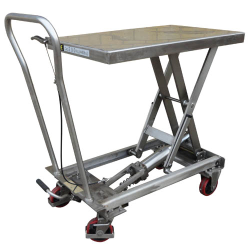 Stainless Steel Mobile Scissor Lift Tables<br/>Capacity: 100 - 500kg<br/>Models: BSL10SS - BSL50SS